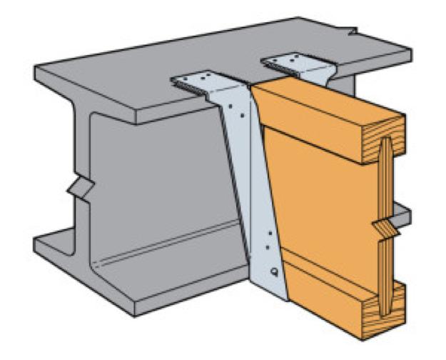 Wood joist to steel beam