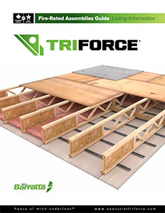 Triforce Fire-Resistant Assemblies Guide Listing Information