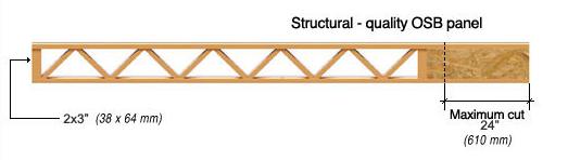An open web wood joist