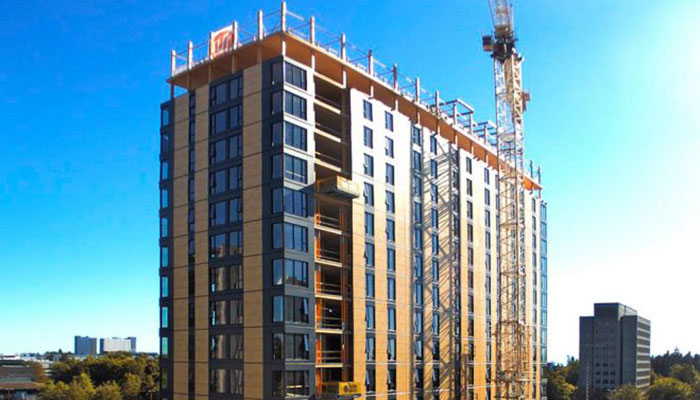 Engineered Wood Products Innovate Tall Building Example