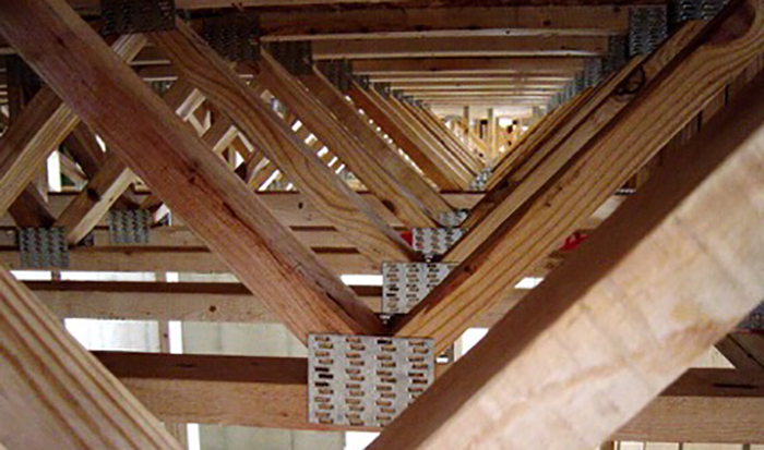 Floor truss or open joist TRIFORCE