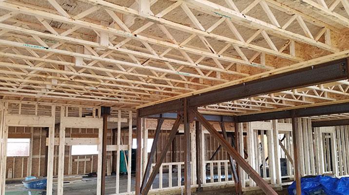 Installing triforce the open web floor joist triforce for Open web floor trusses