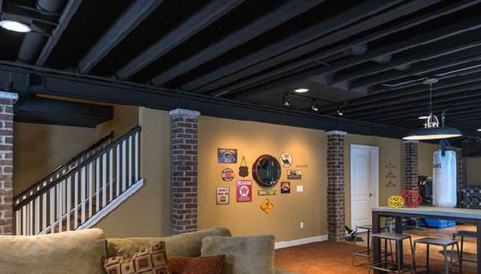 Open Ceiling Design For The Basement Make Sure It S Fire