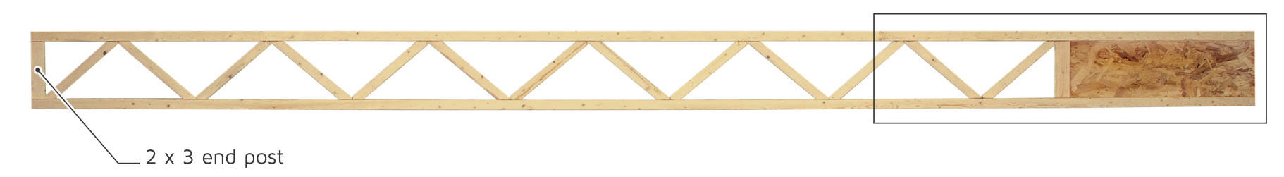 TRIFORCE Open Wen Joist is perfect for fire resistant open web ceilings