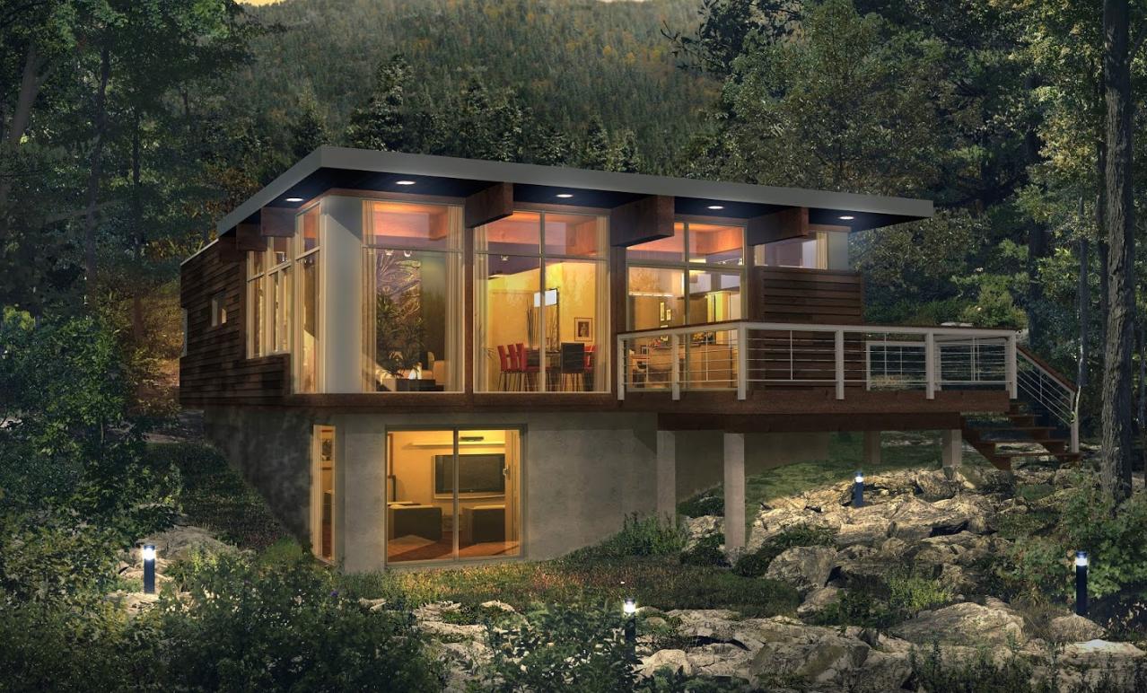 Modular housing modern Bonneville TRIFORCE