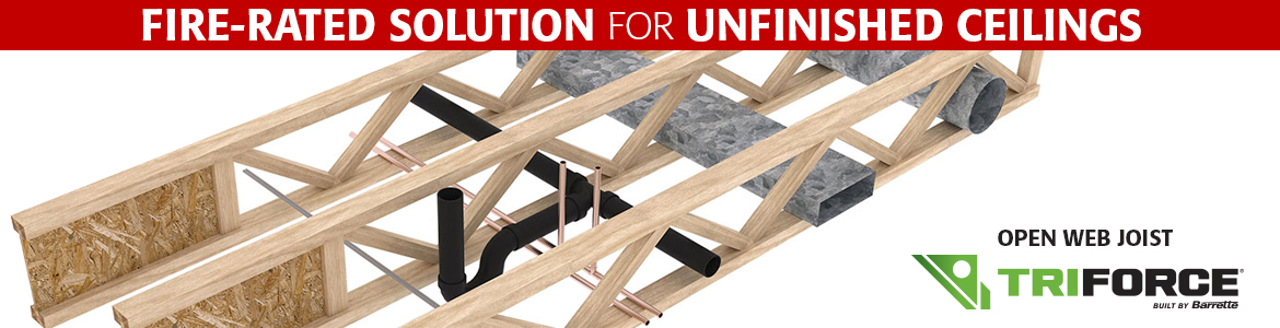 TRIFORCE Fire-Rated Solution for Unfinished Ceilings