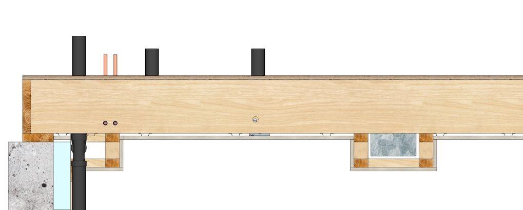 A floor using conventional floor joist