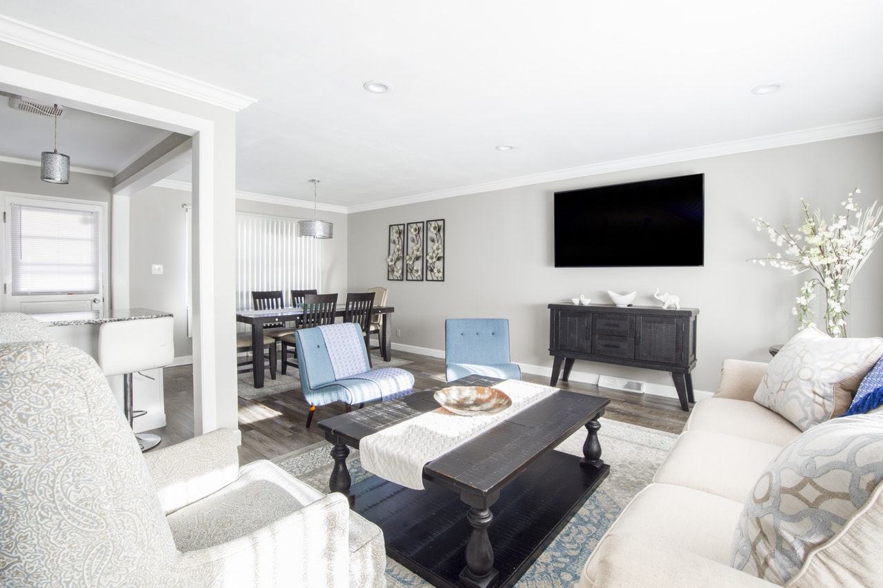 An open concept home