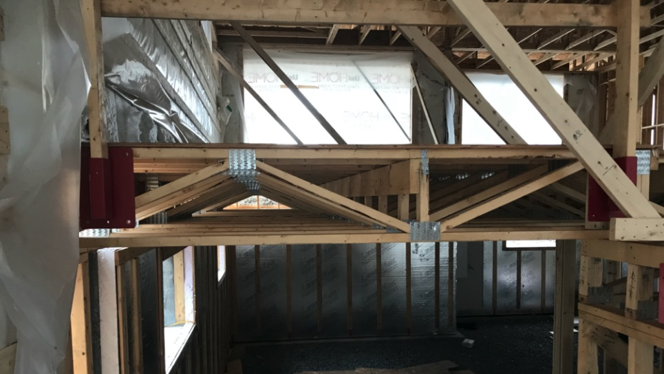 Steel-plated floor trusses