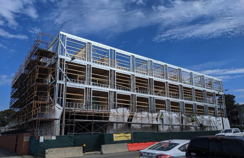A light commercial building site