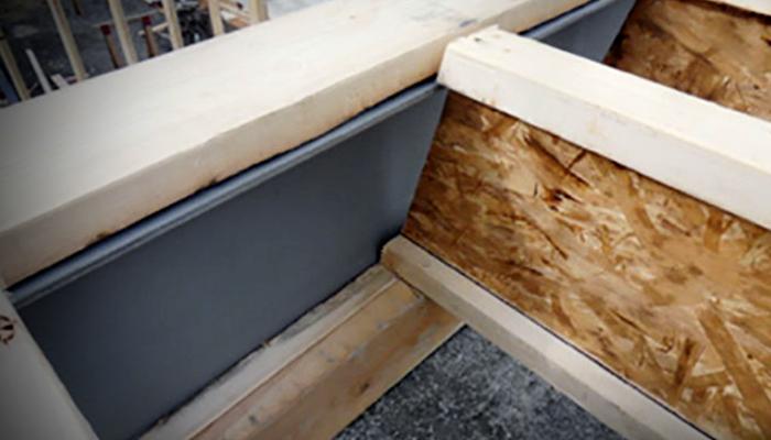 Wood to steel beams
